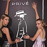 """She posed with her BFF, Stella Maxwell, captioning her photo, """"Go besfriend thas my besfriend #mademoiselleprive."""""""