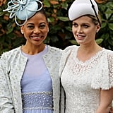 Viscountess Emma Weymouth and Lady Kitty Spencer at Royal Ascot