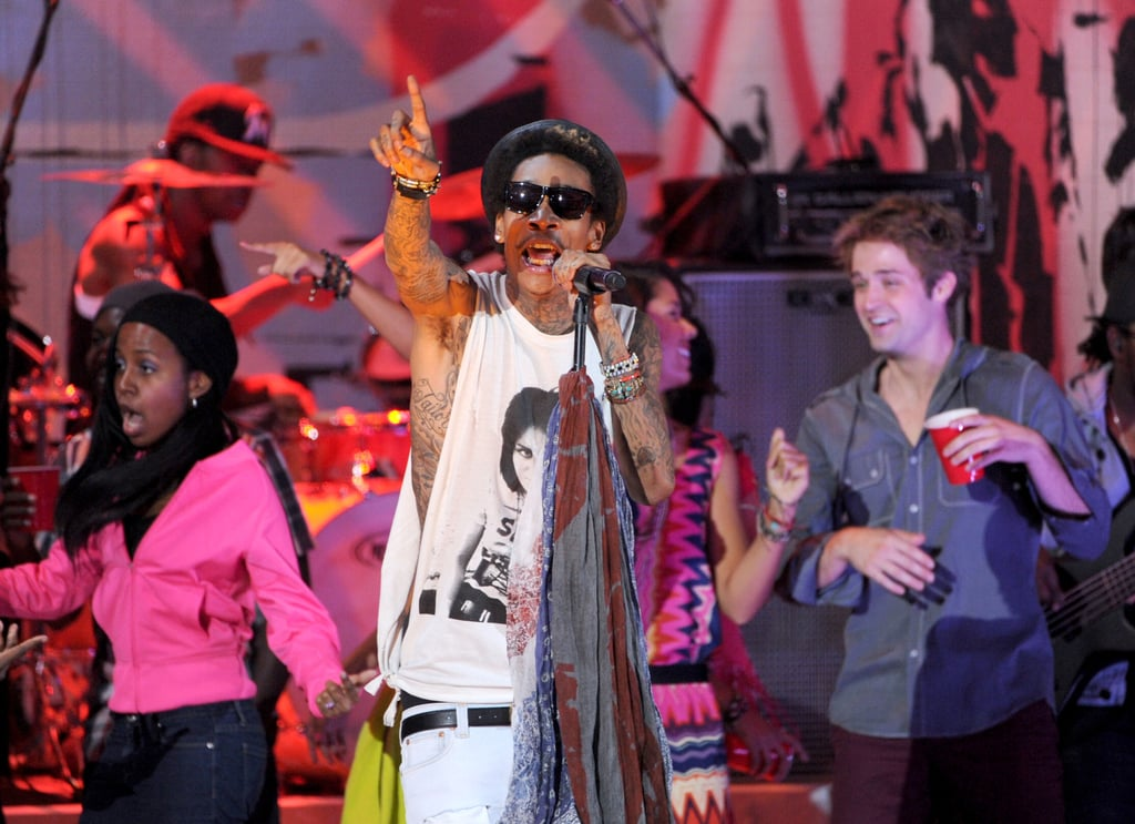 Wiz Khalifa performed one of his many hits.