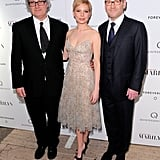 Michelle posed with director Simon Curtis and Kenneth Branagh.