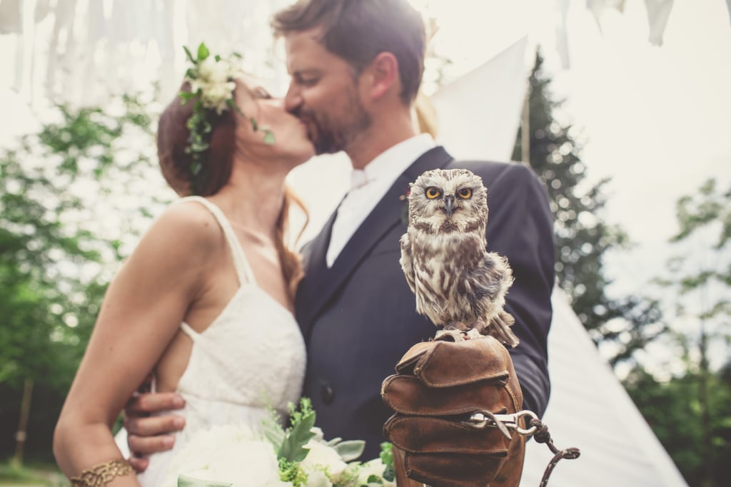 Owl Ring Bearer Fall Wedding Inspiration POPSUGAR Love Sex Photo 6