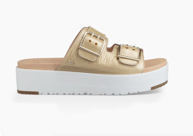 UGG Cammie Metallic Sandal in Gold