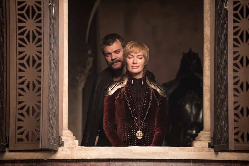The Battle of Winterfell might be over, but the fight for the Iron Throne is just beginning. At least, that's what the new footage for the upcoming episode of Game of Thrones seems to tease, which is backed up by a batch of brand-new photos that HBO released on May 1. In King's Landing, Cersei and Euron survey the city from above (with the Mountain hovering ominously behind them, naturally). But the rest of the images check back in with the characters struggling to rebuild after the decimation of the Night King's invasion — the dead are given a funeral, Drogon returns, Jon Snow is boasting some bloody battle wounds, and Varys is helping figure out a new battle strategy.  Though we lost a handful of important characters at the icy hands of the wights and White Walkers, on the bright side, it seems like the North is ready for another fight. Check out every exciting photo ahead, then be sure to read the latest theory about the show that has us guessing.      Related:                                                                                                           Game of Thrones: This Season 7 Scene Hints Bran Always Knew Who Arya Would Have to Kill