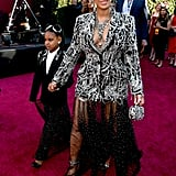 Beyoncé's Alexander McQueen Tuxedo Dress That Matched Blue Ivy's, 2019