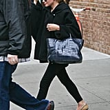 Ashley Olsen was out prestorm in NYC.