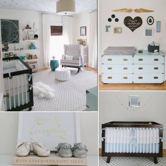 Modern Shared Boy Room: Modern, Serene Baby Boy Nursery