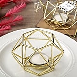 Gold Hexagon Metal Votive Holder