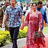 Meghan Markle Wears Figue Ruffle Dress in Fiji October 2018