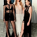 Este Haim, Danielle Haim, and Alana Haim at the Vanity Fair Oscars Party