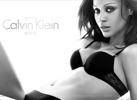 Fab Ad: Zoe Saldana for Calvin Klein Envy