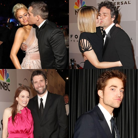Pictures of NBC Universal Golden Globes 2011 Afterparty with Robert Pattinson, Mark Ruffalo, Paris Hilton, Julianne Moore
