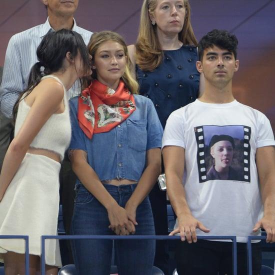 Kendall Jenner, Gigi Hadid, and Joe Jonas US Open Pictures