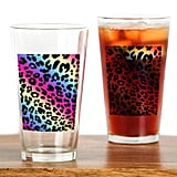 Neon Leopard Print Drinking Glasses