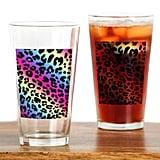 Neon Leopard Print Drinking Glasses