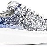 Alexander McQueen 'Larry' Glitter Extended-Sole Sneakers ($575)