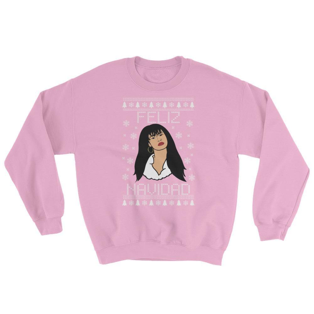 Queen Feliz Navidad Christmas Sweater in Light Pink | Selena ...