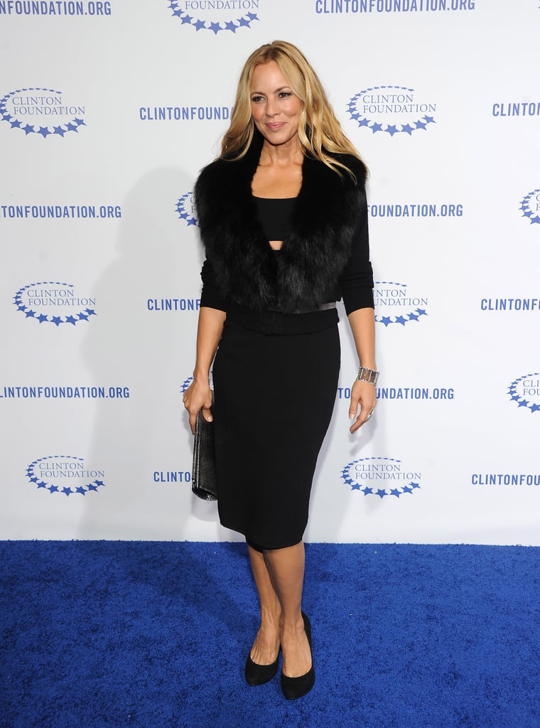 Maria Bello stuck with an all-black theme for the evening.