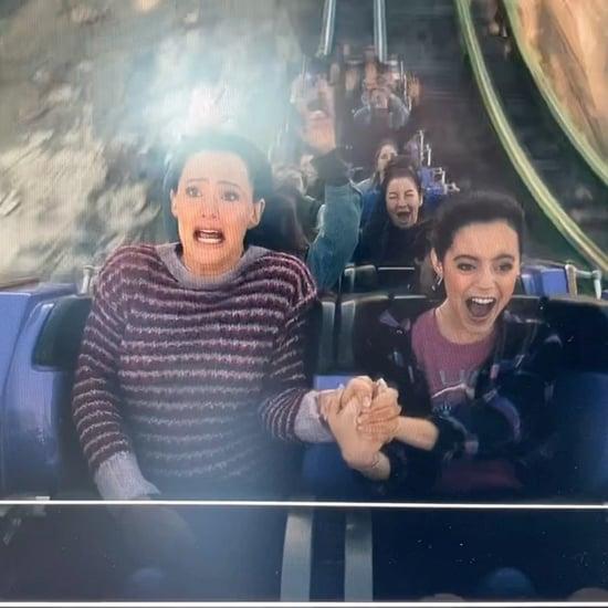 Watch Jenna Ortega and Jennifer Garner Ride a Roller Coaster