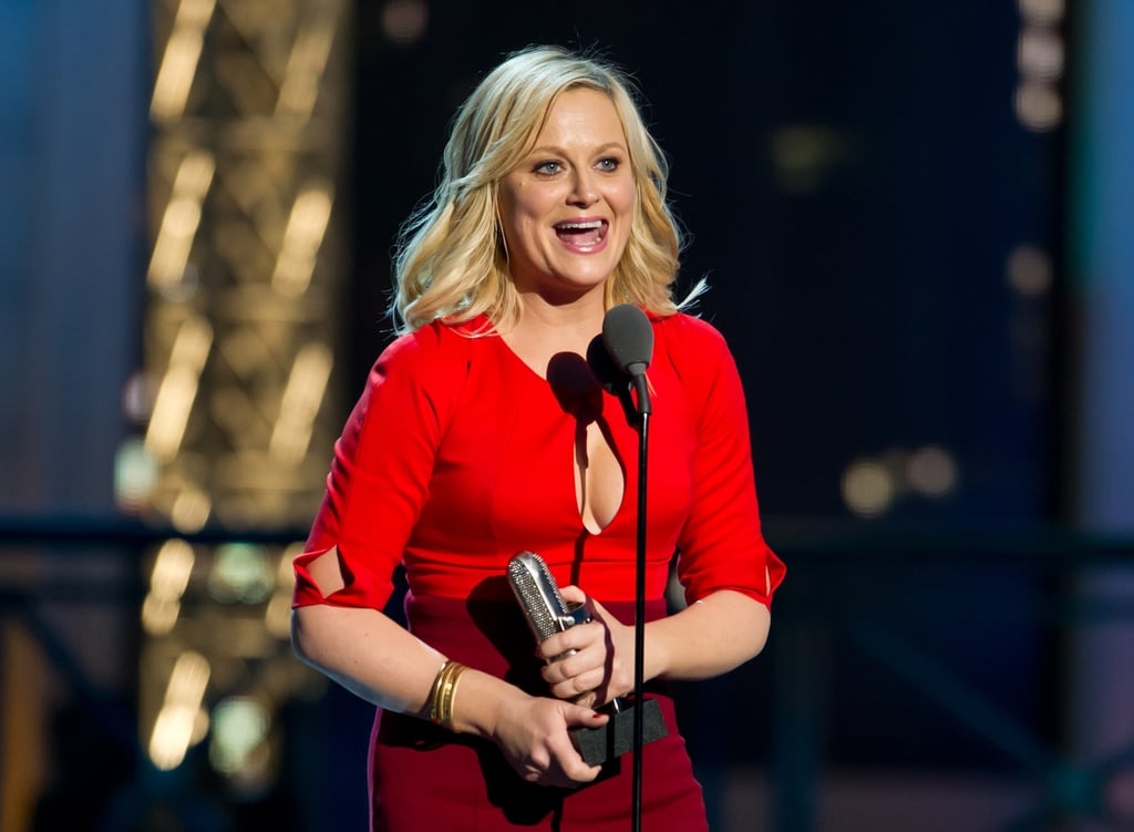 Amy Poehler was on stage to accept an award at the Comedy Awards in NYC.