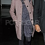 Michelle Williams stepped off a plane at JFK airport.