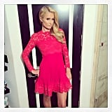 Paris Hilton struck a pose before the People's Choice Awards. Source: Instagram user parishilton