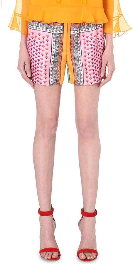 Diane von Furstenberg Fontana silk floral-print shorts ($242)
