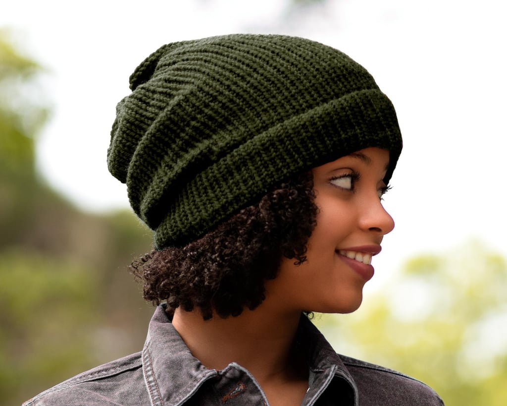 Satin-Lined Knit Beanie
