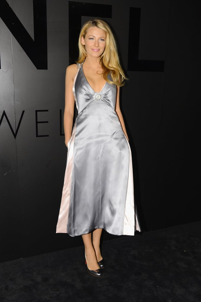 Blake Lively wore a silver Chanel look.