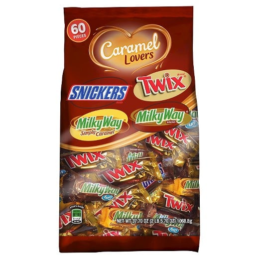Mars Caramel Lovers Variety Pack, 60 Pieces