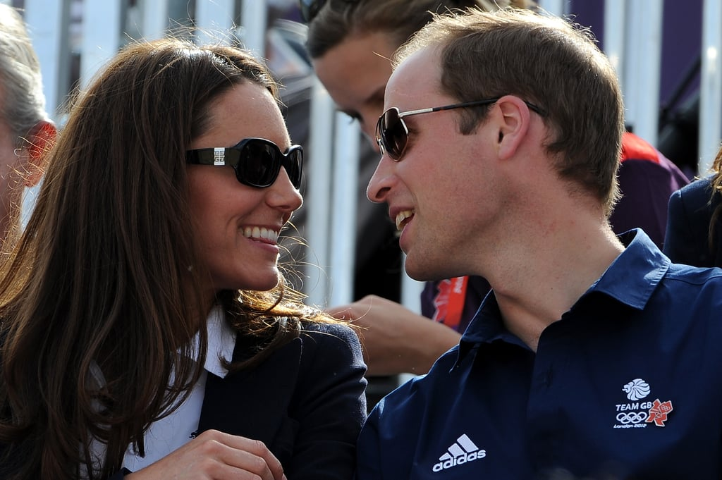 Kate Middleton and Prince William at the Olympics.
