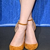And Showed Off Her Ankle-Strap Heels