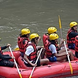 The former president could barely hide his excitement when he went whitewater rafting with Michelle and their daughters, Sasha and Malia, during their trip to Indonesia in July.