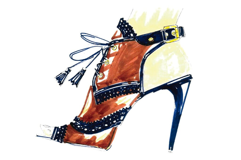 >> Here's a little preview of some of the shoes and bags designers plan to send down the runway for Spring 2012, and not a moment too soon; our Fashion Week anticipation is mounting by the day. Thanks to WWD — who've just posted a selection of Spring 2012 accessories sketches from some of our favorite designers — the wait just got a little easier. From the looks of it, one thing is certain: Spring 2012 will have no shortage of vertiginous, strappy shoes.