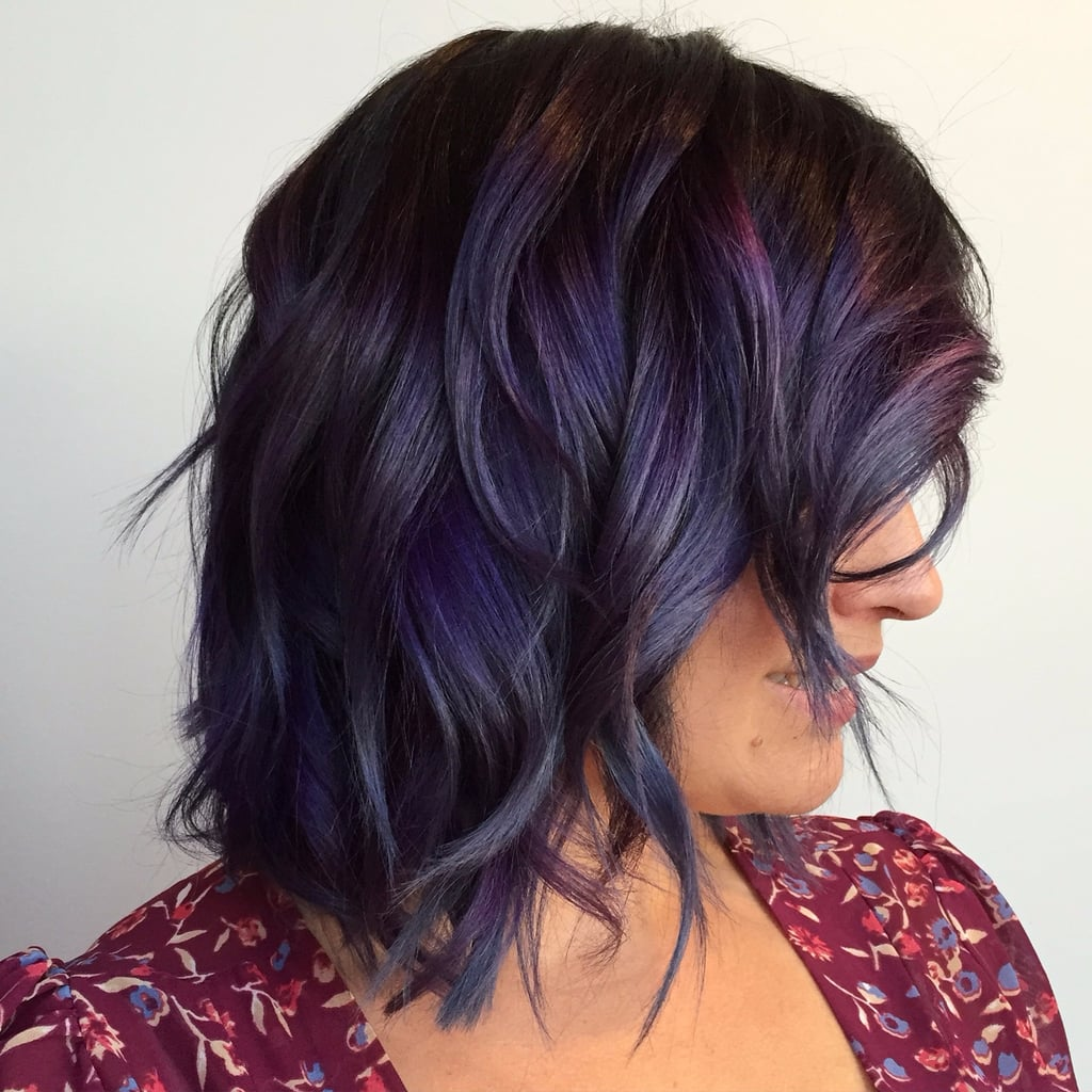 Purple hair (velvet hair dye): new ideas and trends 2019 picture