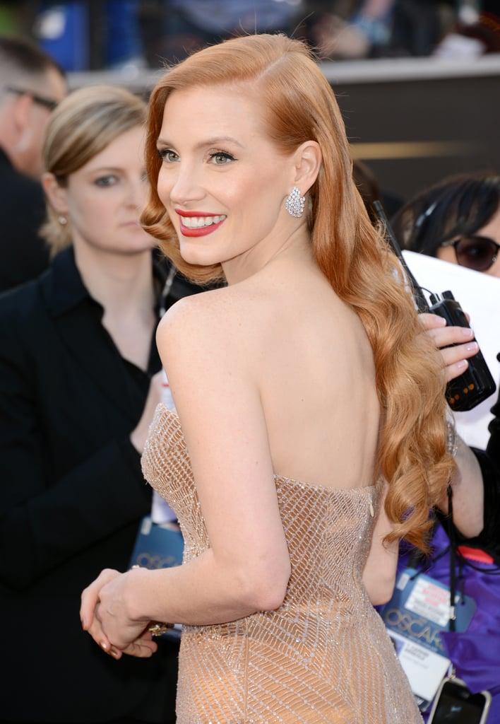 Jessica Chastain Dons Custom Armani at the Oscars