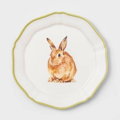 "9"" Melamine Bunny Salad Plate"