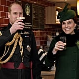 March: Kate enjoyed the St. Patrick's Day Parade with William.