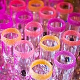 7. Colorful Sugar Rimmed Glassware