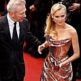 Diane Kruger wore a gold Vivienne Westwood gown.