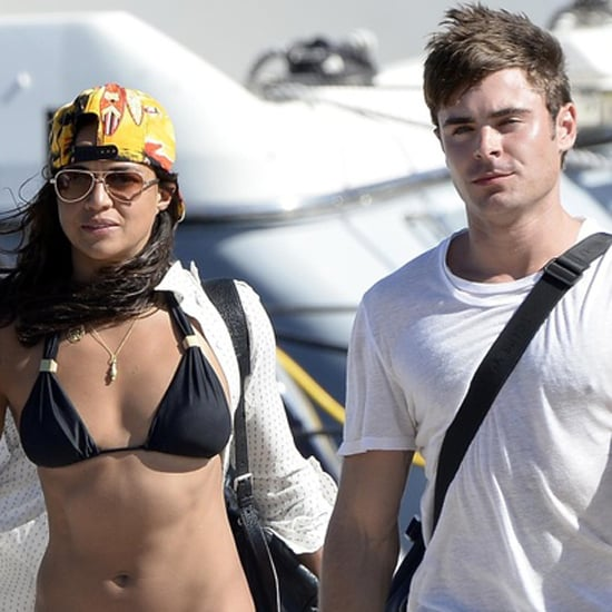 Michelle Rodriguez in a Bikini With Zac Efron in Italy