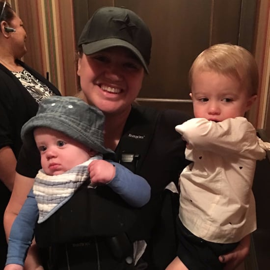 Kelly Clarkson and Her Kids at Disney World November 2016