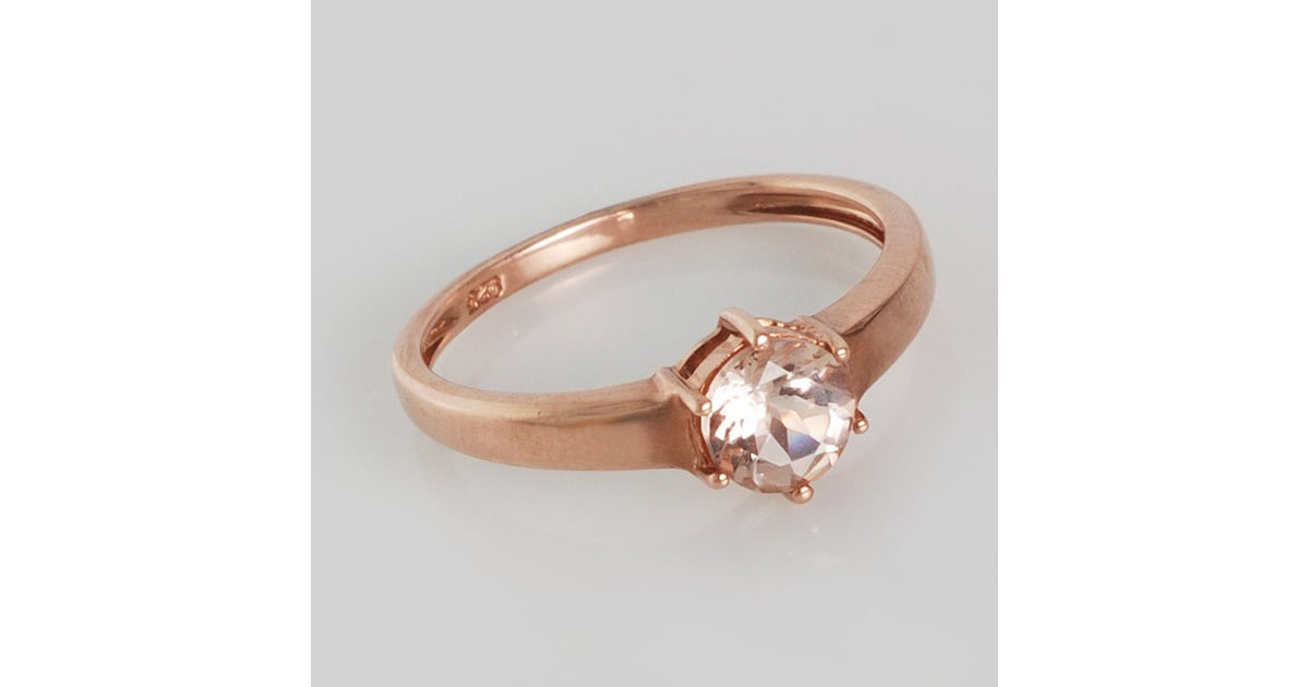 Rose Gold & Morganite Ring $80 Engagement Rings Under $100