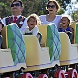 Jennifer Lopez spent time at Disneyland in LA with her kids.