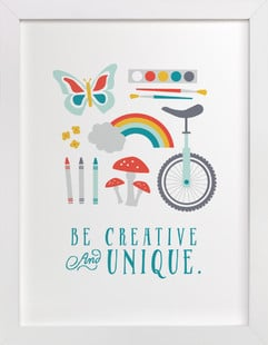 Be Creative and Unique Self-Launch Children's Art Print ($115)