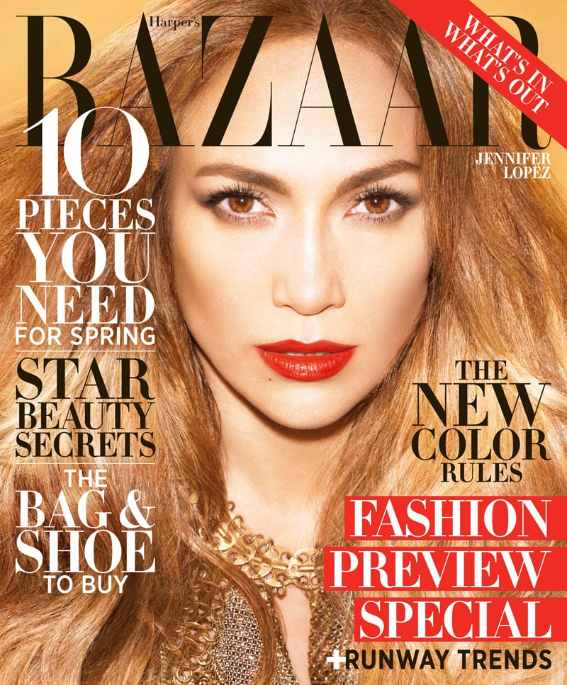 Copy Now: Jennifer Lopez's Lucious Locks, C/o Her Harper's Bazaar Cover