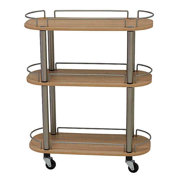 Household Essentials Three-Shelf Utility Cart