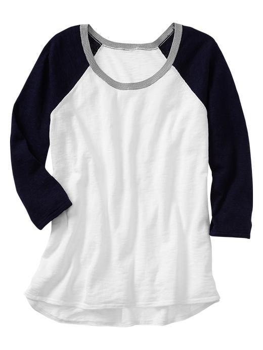 Gap Colorblock Raglan Baseball-Sleeve Shirt