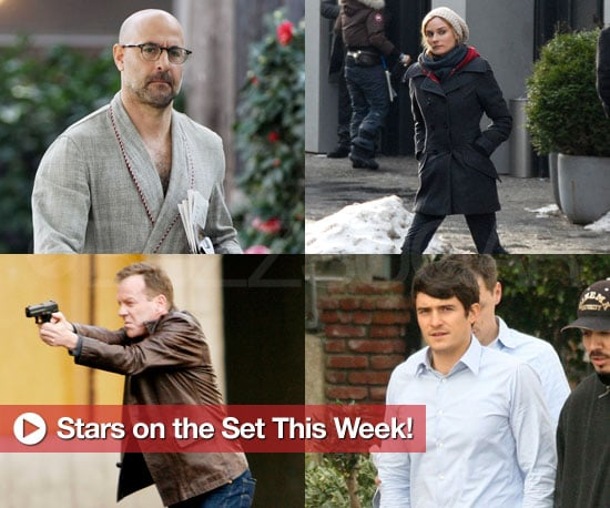 Slideshow and Photos of Stars on Set With Orlando Bloom, Diane Kruger, Justin Timberlake, Stanley Tucci, and Matt Damon