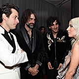 Pictured: Mark Ronson, Andrew Wyatt, Anthony Rossomando, and Lady Gaga