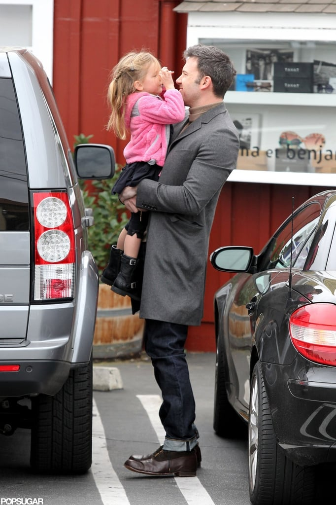 Ben Affleck held Seraphina Affleck.